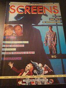 SCREENS MAGAZINE APRIL 1989 MICHAEL JACKSON MOONWALKER VHS RENTAL VIDEO MAGAZINE