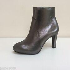 Fab Hogl dark grey glitter leather ankle boots, UK 4/EU 37, RRP £199, BNWB