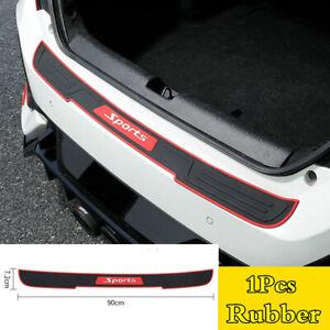 1Pc 90cm Rear Bumper Guard Trunk Edge Sill Rubber Protector Cover For Car SUV