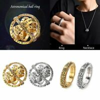 Unisex Armillary Sphere Ring That Unfolds Into Astronomical Sphere Ring US7-10