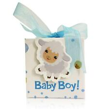 Party Edge Baby Shower Favor Boxes includes 40 Blue boxes and 40 Blue ribbons
