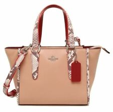 COACH Mini Crosby Carryall 21 F11750 Refined Leather Python Embossed Leather
