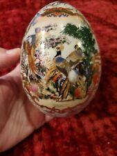 Satsuma Japanese Egg. 5 Inches.