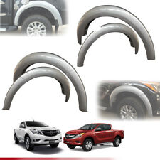 FENDER FLARE FLARES SILVER WHEEL ARCH FIT FOR MAZDA BT-50 BT50 PRO 2012-2017