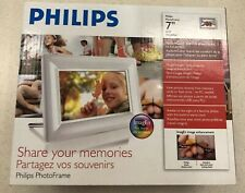 Philips 7FF3FPW 7 Inch LCD Photo Frame White ImageEn Alarm Clock
