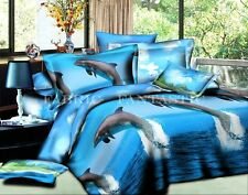 DOLPHINS Super King Size Bed Duvet/Doona/Quilt Cover Cover Set New