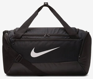 Nike Brasilia Training Duffel Bag Gym Sports Holdall Football Kit New Black 40L