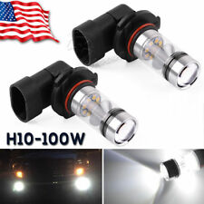 2x 6000K Super White H10 9145 100W LED  Fog Driving Light DRL Bulbs