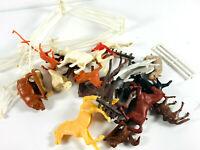 Lot (20+) Vintage Farm Animal Toys pigs horses duck dog
