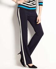 ANN TAYLOR Black w/White Stripe Tuxedo Pants, SZ. 12