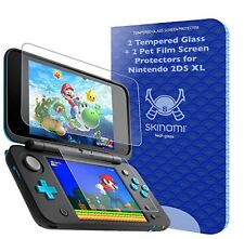 Skinomi Tech Glass™ Nintendo 2DS XL Screen Protector (2x Glass + 2x PET)