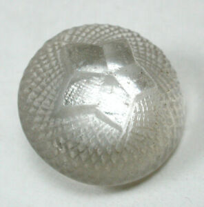 """Antique Charmstring Glass Button Foiled Star Pattern 5/8"""" Swirl Back"""