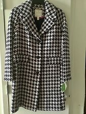 New Kate Spade New York Navy & Pink Houndstooth Coat Sz  M, & L NWT $518