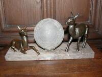 Rarität Original Art Deco Lampe Tischlampe zwei  Rehe  ca.1925 Frankreich