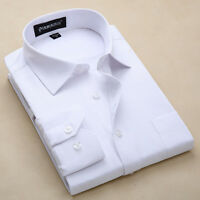 New Men's Long sleeve Formal Luxury Stylish Casual Slim Dress Shirts