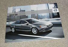 Volvo S80 Brochure 2009-2010 - 2.5T V8 AWD 1.6d 2.0d 2.4d D5 - SE Lux Executive