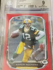 AARON RODGERS 2013 Bowman Silver Ice Red /25 BGS 9