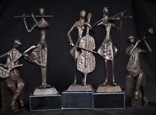 Bronzeskulptur Musik Figurengruppe, Kapelle  5 tlg. Figur Bronze