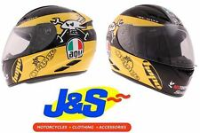 AGV K3 Guy Martin Race Motorcycle Motorbike Helmet Yellow