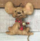 Handmade Primitive Mouse Christmas Ornament or Bowl Filler