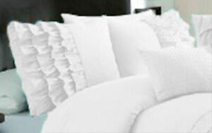 2 PC Half Ruffle Pillow Cases All Colors 1000  Thread Count Soft Egyptian Cotton