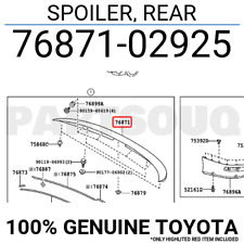 7687102925 Genuine Toyota SPOILER, REAR 76871-02925