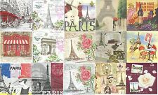 Lot 15 Serviettes en papier Paris Tour Eiffel Paper Napkins
