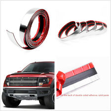2.5m Chrome DIY Automobile Bumper Door Edge Lip Guard Conservation Sticker Strip