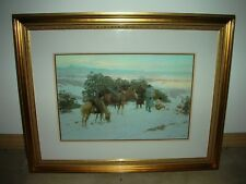 TOM LOVELL- FIVE MILES AHEAD OF THE COLUMN- SIGNED LITHOGRAPH FRAMED -COA