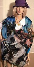 HOLLYWOOD Tuch Schal shawl Stola Umschlagtuch Seide silk Made In Italy CHIFFON