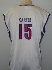 VINTAGE CHAMPION VINCE CARTER #15 TORONTO RAPTORS WHITE BASKETBALL JERSEY MEN XL