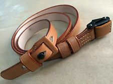 WWII German K98 98K RIFLE SLING (Repro) - Mid Brown Leather