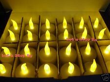 24x Battery LED Amber Tealight Candle Wedding Floral Party Decoration Tea Light