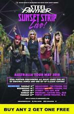 STEEL PANTHER 2018 Laminated Australian Tour Poster