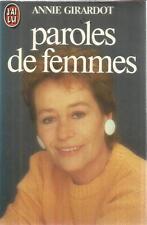 ANNIE GIRARDOT PAROLES DE FEMMES