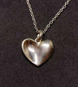 Georg Jensen Modern Sterling .925 Silver Heart Necklace And Pendant Denmark