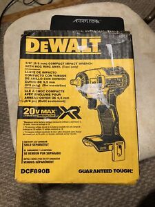NEW DEWALT DCF890B 20V MAX XR 3/8 in. Compact Impact Wrench (Tool Only) NIB