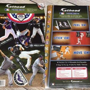 NEW! $15 Fathead Team Set MLB Baseball Colorado Rockies Peel 'N Stick Reusable