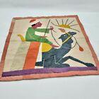 Vintage Hand Sewn Tapestry Linen Applique Camel