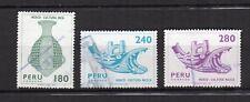 PEROU 1982 Y&T N°727 à 729 3 timbres oblitérés culture Indienne /T4155