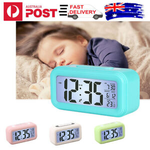 Bedroom Alarm Clock LCD Display Desk Alarm Clock with Date Temperature Snooze