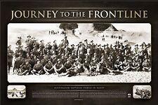 Anzac Print- Journey to the Frontline Official War Memorabilia World War 1