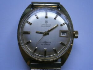 Vintage gents wristwatch SANDOZ POLEMASTER automatic watch spares or repair FHF
