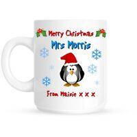 Personalised Teacher Merry Christmas Stocking Filler Ceramic Mug | Cup Gift