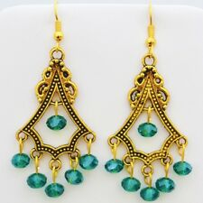 ALEXANDRIA LIGHTS EARRINGS HANDCRAFTED GOLD CRYSTAL  ACCESSORIES FASHION JEWELRY