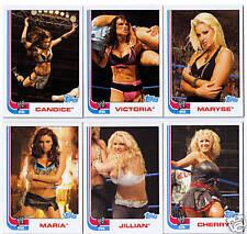 2007 WWE Heritage 12 DIVAS cards subset - series 3 III