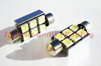 2 LAMPADE LAMPADINE SILURO TARGA 42 MM 6 LED 5050 SMD 6000K CANBUS NO ERRORE