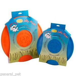 Jolly Flyer Rubber Dog Frisbee 7.5 inch Blue