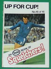 1970 FOOTBALL ESSO BOOK OF SQUELCHERS ! N°16 UP FOR CUP !