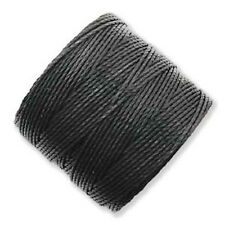 TWO Beadsmith Superlon Bead Cord for Beading/Macrame BLACK 154 Yards